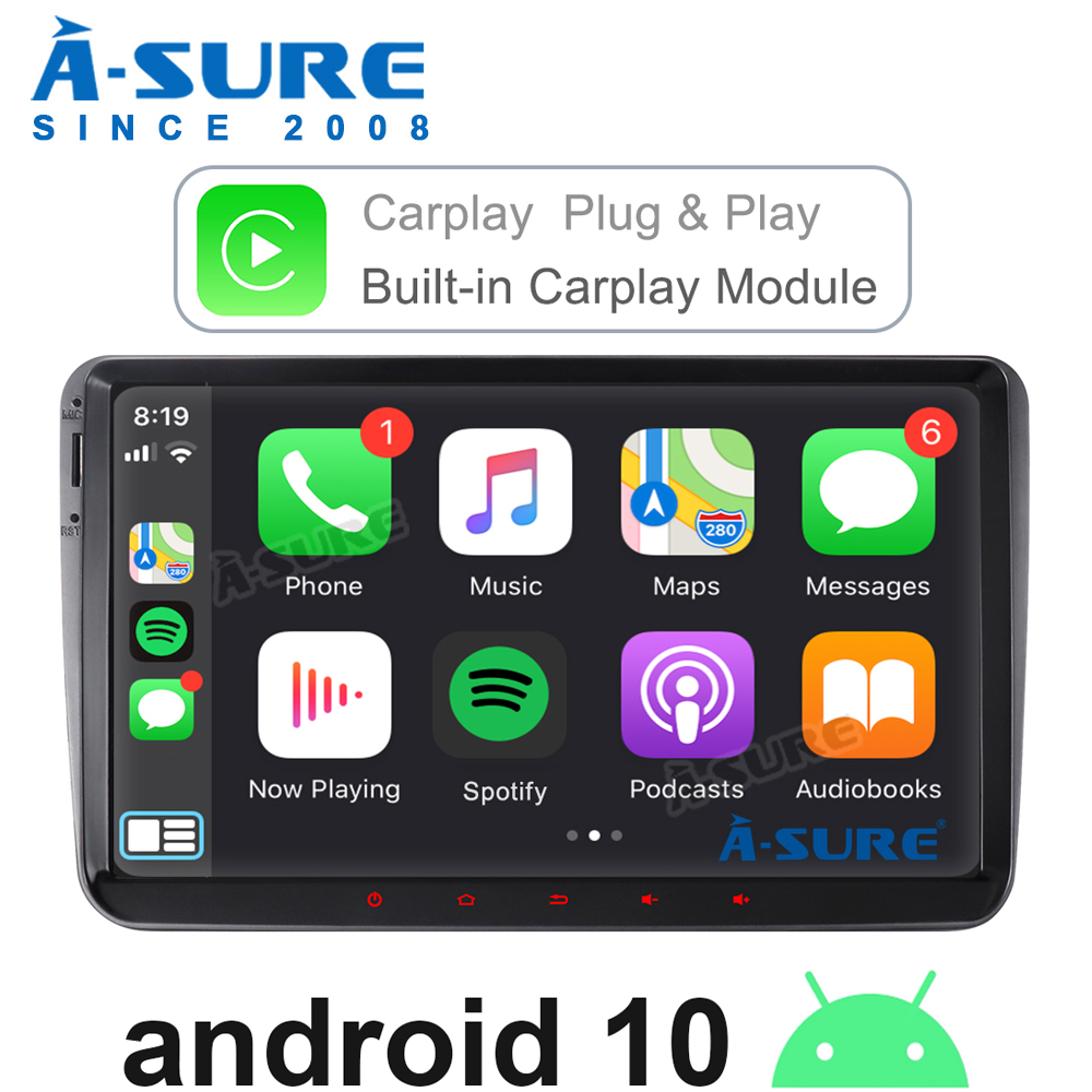 A-Sure Auto Multimedia 2 Din 9 Zoll Android Autoradio-Player GPS-Navigation Für Volkswagen <font><b>VW</b></font> Polo T5 Passat b6 Tiguan Golf 5 6 Caddy image