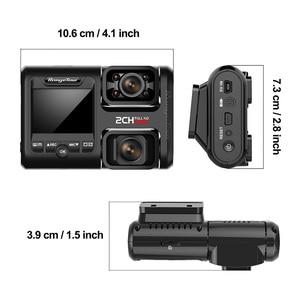 Image 5 - 4K 2160P WIFI GPS לוגר כפולה עדשת רכב DVR Novatek 96663 שבב Sony IMX323 חיישן ראיית לילה מצלמה כפולה דאש מצלמת מקליט D30H