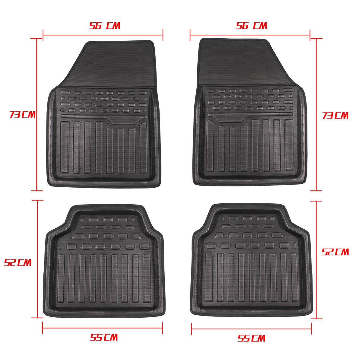 Carpet Floor-Mat Universal Hyundai Waterproof Toyota Peugeot Rear 4pcs Pvc Front  title=