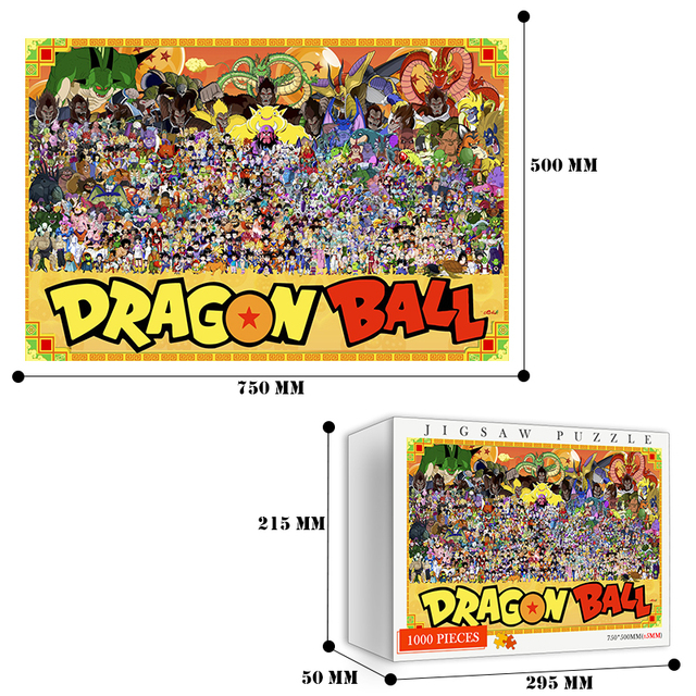 Dragon Customized Ball DIY Jigsaw Puzzles 1000 Pieces Wooden Quality Puzzle Toys Adults Japan Cartoon Anime 1000 Pieces Puzzles 6