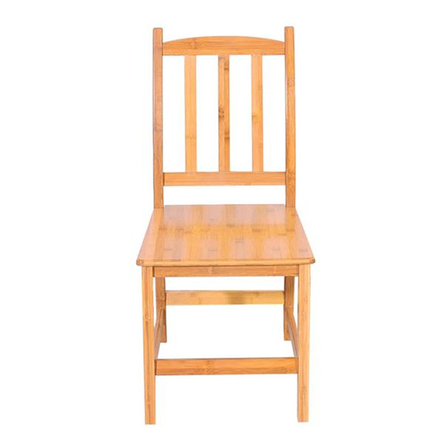 2pcs Bamboo Dining Chairs 2