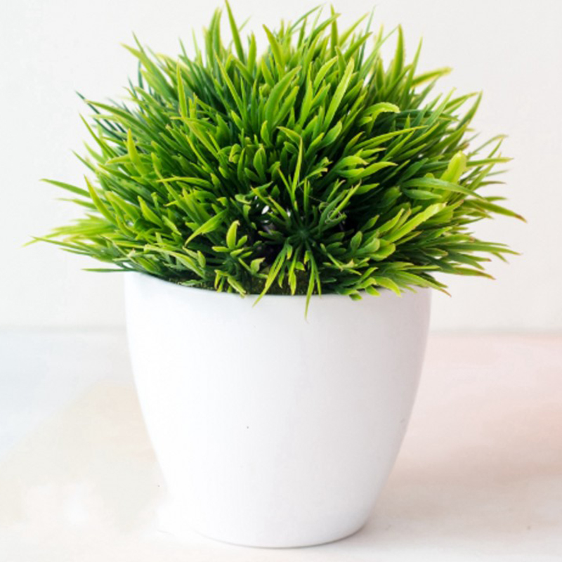 1 X Artificial Fake Potted Grass Plant Bonsai Outdoor Indoor Garden Wedding Home Decoration Accessories