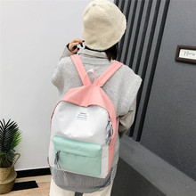 Couple Backpack  Schoolbag Travel Hiking Bag Color Block Collection Luminous Bag цена 2017
