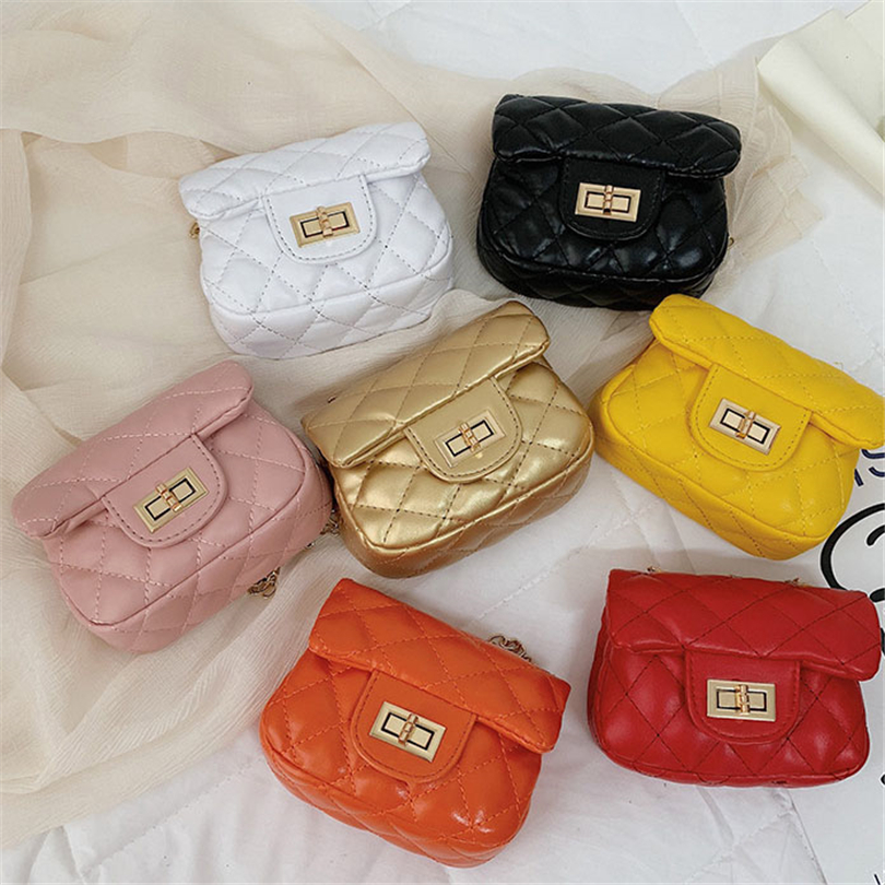 2020 Crossbody Bags For Women Summer Candy Colored Kids Luxury Bags Baby Shoulder Messenger Bags Chains Girl Coin Tote Bag Purse
