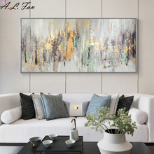 Decorative-Frames Oil-Painting Abstract-Art Handmade Living-Room Large Vertical for on