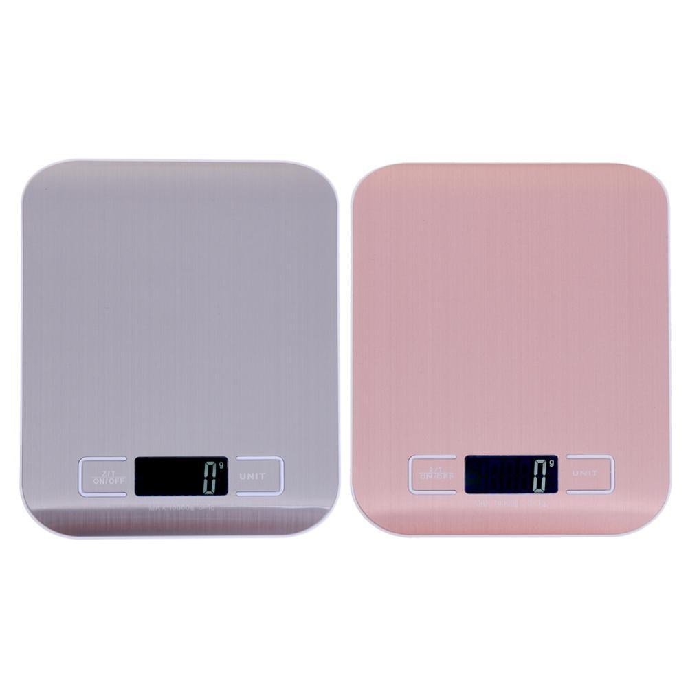 Цифровые кухонные весы с ЖК-дисплеем, 10 кг/1 г, точные пищевые весы из нержавеющей стали для приготовления пищи, электронные весы для выпечки-0