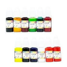 12 Pcs/set DIY Crystal Epoxy Concentrated Color Fine UV Dyed Pigment AB Glue
