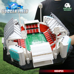 Image 5 - 4654PCS 빌딩 블록 크리 에이 티브 장난감 오래 된 Traffords Manchesters 축구 필드 모델 벽돌 아이 교육 장난감 생일 선물