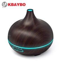 KBAYBO 300ML LED Lampe Elektrische Aroma Luftbefeuchter Ätherisches air diffusor holz Luftreiniger kühlen Nebel hersteller für home büro Spa
