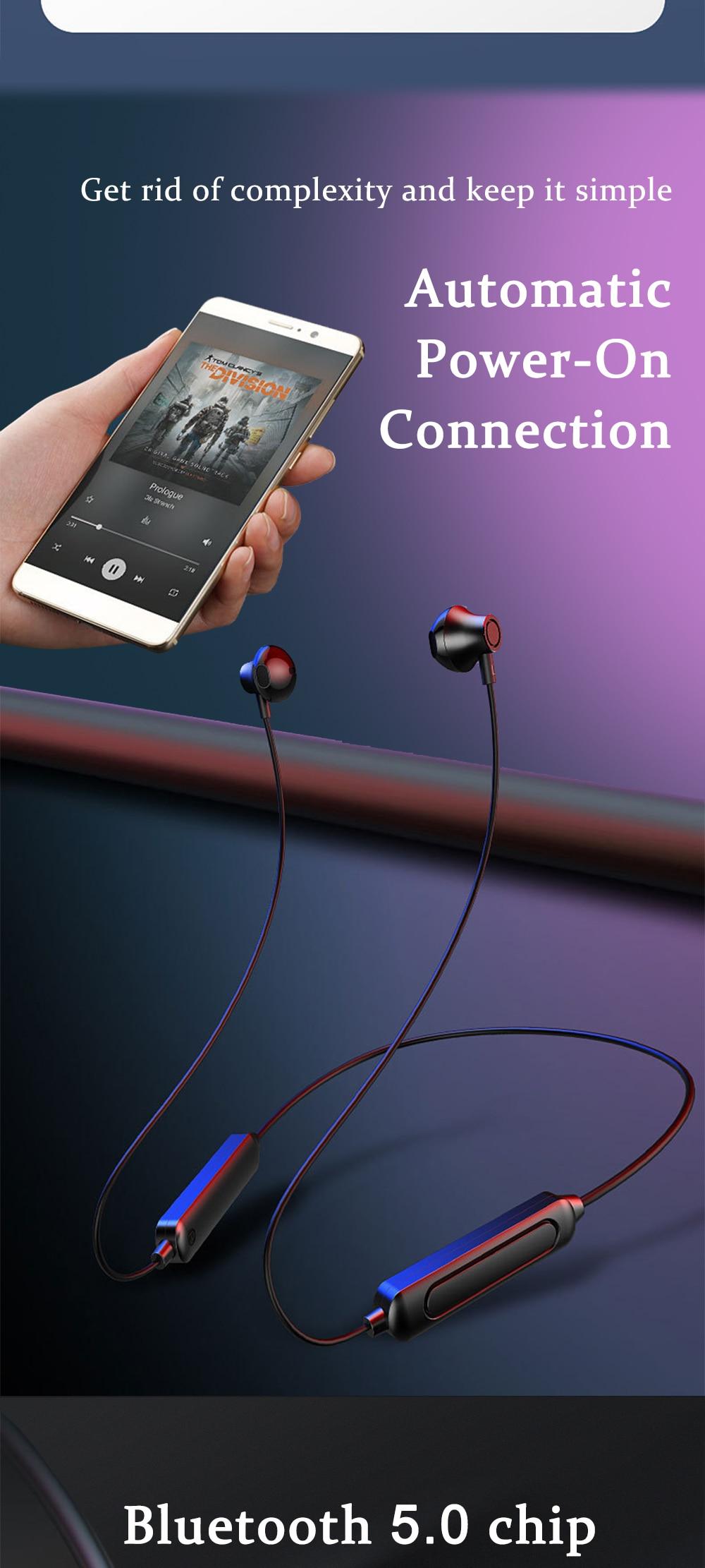 Pescoço-estilo magnético fone de ouvido bluetooth sem
