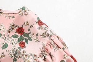 Популярное Новое пикантное сухое тофу с принтом 40-9172 Европейская и американская мода мини-платье