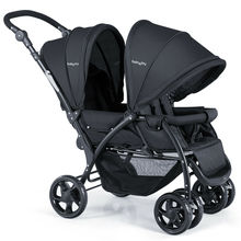 Foldable Twin Baby Double Stroller Stand OnTravel Stroller Infant Pushchair