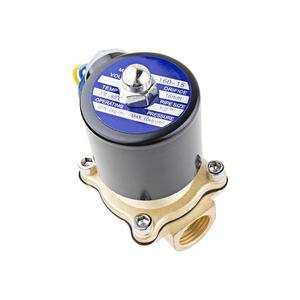 "Image 5 - 1/2 ""3/4"" נמוך לחץ 10bar פליז מים גז סולנואיד שסתום 24VAC 110VAC 12VDC EPDM חותם"
