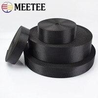 Meetee 5meter 25/32/38/50mm Nylon Schwarz Gurtband Band Fischgräten Muster DIY Rucksack Strap sitz Gürtel Nähen Zubehör RD002