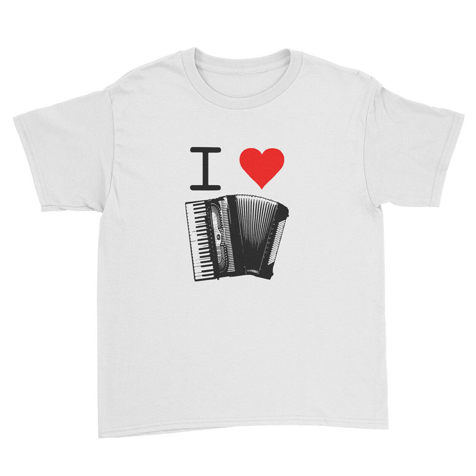 I Love Music Instruments Funny Dance Song Kids T Shirt Unisex Children New Unisex Funny Tee Shirt image