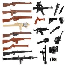WW2 военный немецкий солдат оружие строительный блок 98k винтовка огнестрельное оружие армейские аксессуары Кирпичи полицейский спецназ фигурка MOC игрушка C106