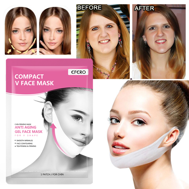 4pcs V Face Mask For Face Lifting V Face Shaper Sheet Mask Reduce Double Chin Anti Wrinkle V Line Slimming Tools For Face Care