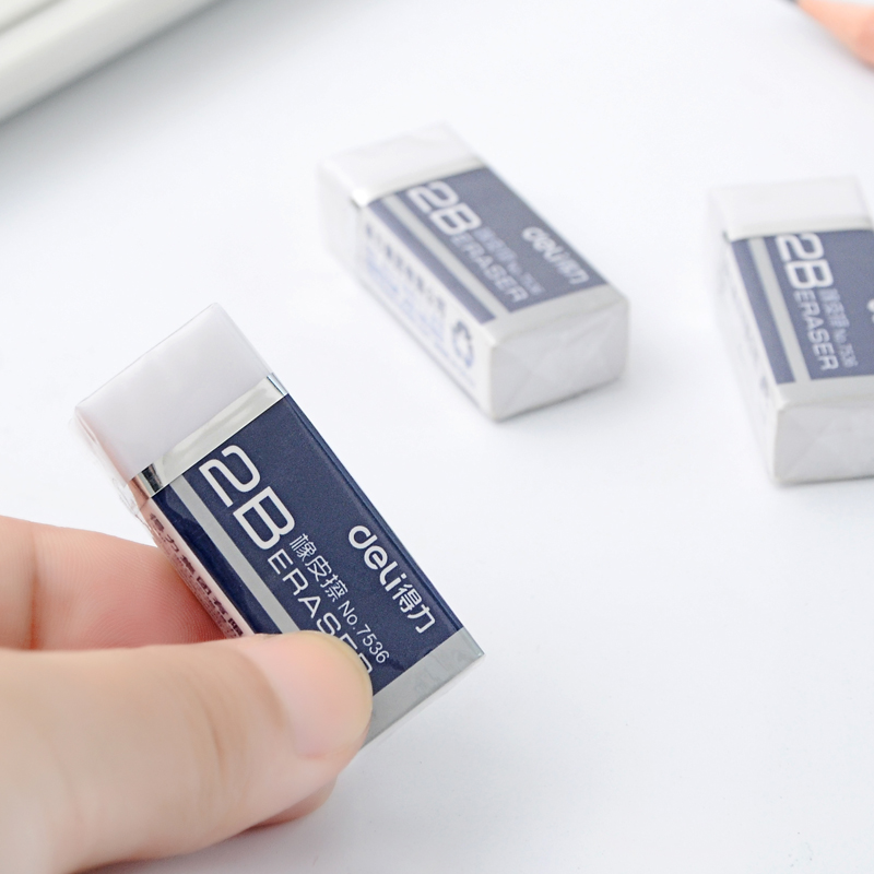 Cute Mini 2B Pencil Eraser For School And Office Mini White Color Soft Rubber Erasers Student Kids Professional Stationery