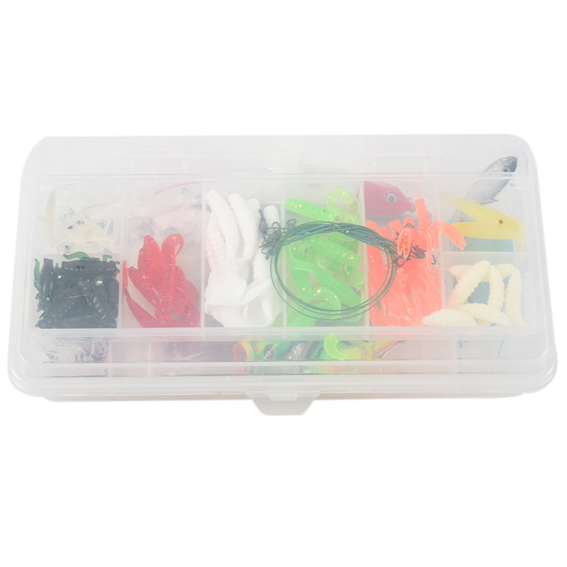 100 Fishing Lures Spinners Plugs Spoons Soft Bait Pike Trout Salmon+Box Set|Fishing Lures|   - title=