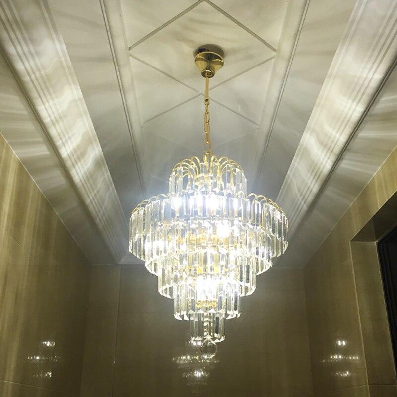 אירופאי יוקרה זהב קריסטל נברשת תאורת חדר שינה led עגול קריסטל מנורת סלון חדר אוכל חדר קריסטל נברשת מנורות-בנברשות מתוך פנסים ותאורה באתר