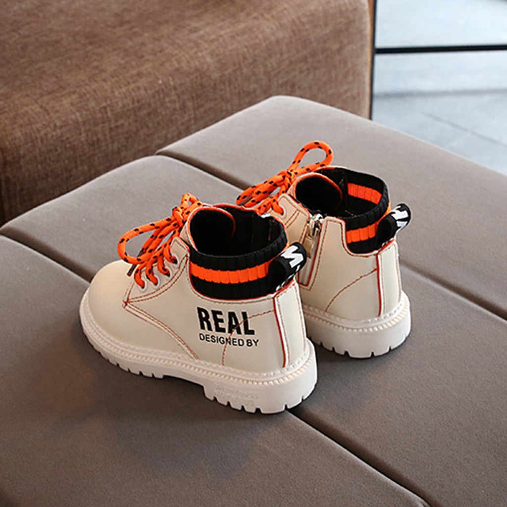 Toddler Kids Boots Infant Kids Baby Winter Froze Boots Girls Boys Ankle Short Boots Lace Up Casual Kids Shoes Jongenslaarzen New