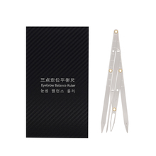 Permanet Makeup Ruler Measure Microblading ruler eyebrow shaping Makeup Tattoo Shaping Stencil Measuring Grooming Tool permanent makeup tattoo eyebrow ruler measure tool metal eyebrow balance ruler shaping stencil tools
