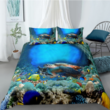 Marine Life Bedding Set King Mysterious Fresh Lifelike 3D Duvet Cover Queen Twin Full Single Double Unique Design Bed Set
