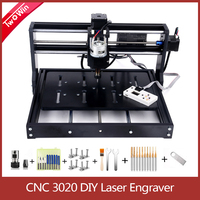 CNC 3020 Engraving Machine Wood Router Cutter Laser Engraver 3 Axis PBC DIY Laser Machine with 15w Laser