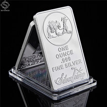 American Prospector 1OZ 999 Value Fine Silver Bullion Bar 미국 연합 금속 동전 소장품(China)