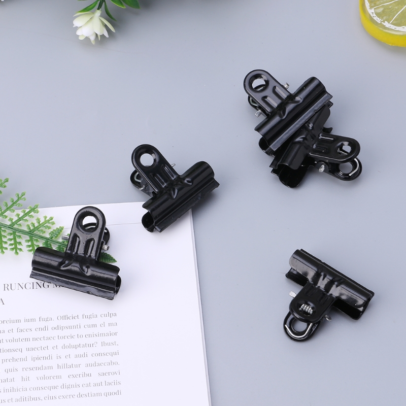 5Pcs Black Metal Binder Clips File Paper Clip Photo Stationary Office Supplies LX9A