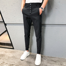 Track Pants Men European And American Trousers Woven Casual Pants Sports Beam Pa