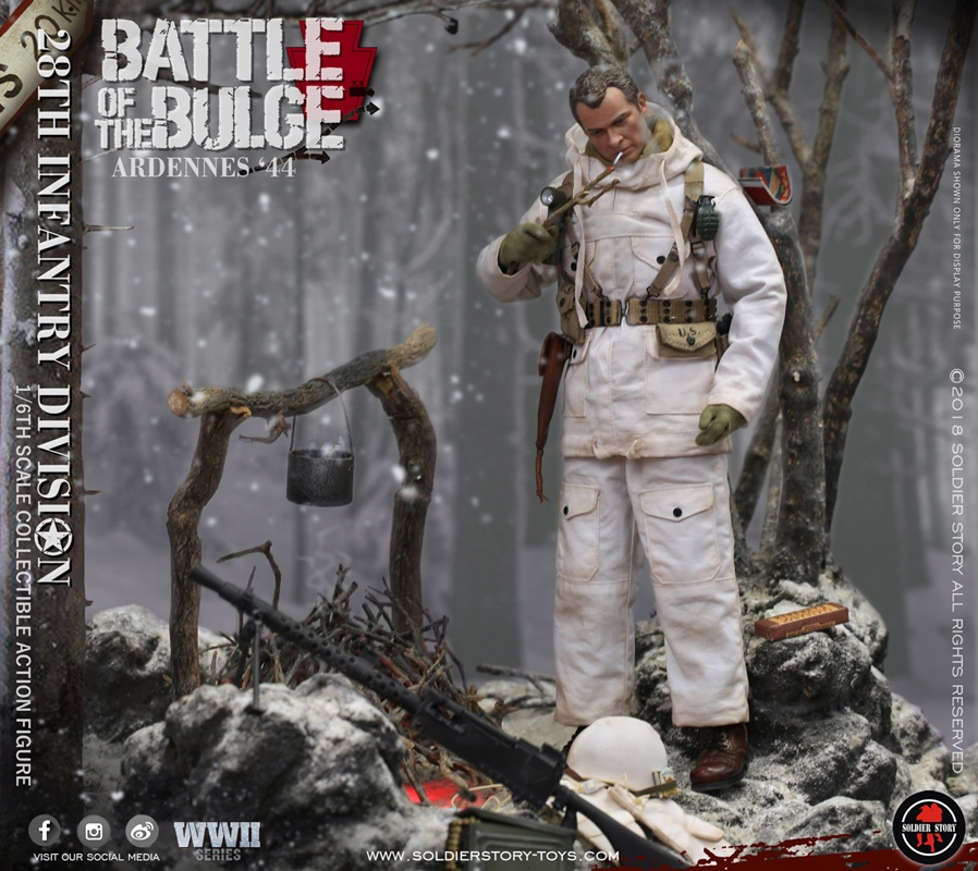 S Story Action Figures Jacket /& Scarf Battle of Bulge Ardennes 1//6 Scale