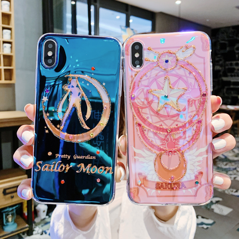 Cartoon Sailor Moon Cosplay Case For Iphone X XR XS Max Phone Lovely Girls Shell Phone Cover Case For IPhone 8 7 Plus 6 6S Plus