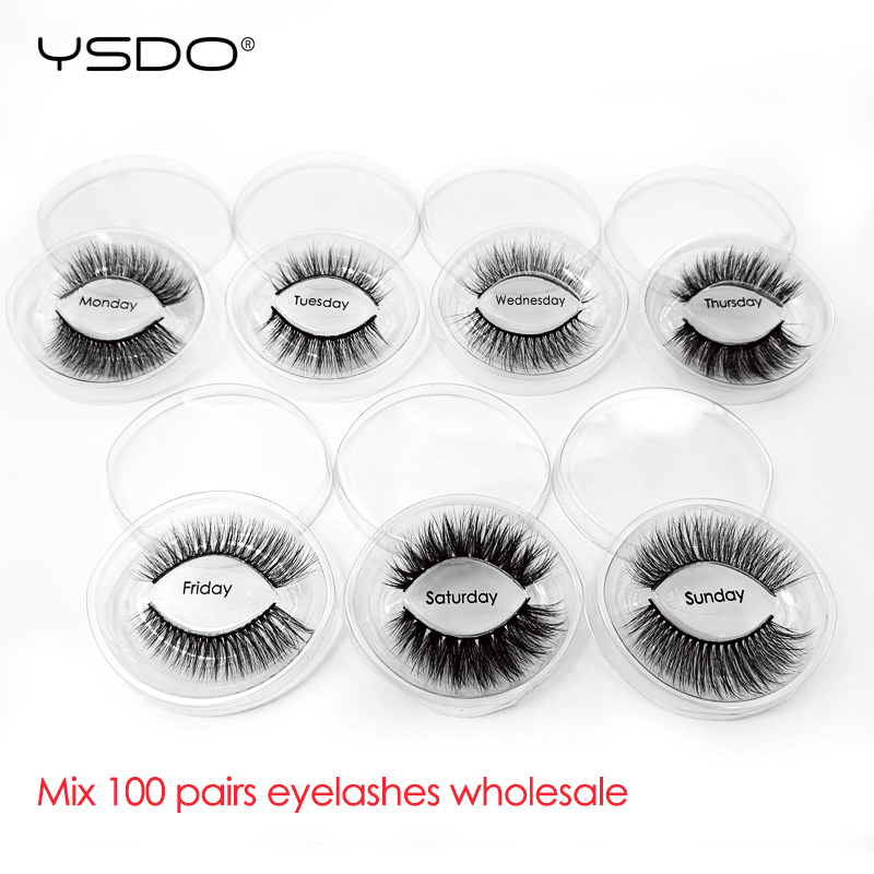 YSDO Mink Eyelashes Wholesale 30/40/50/100 Pairs False Eyelashes Natural 3d Mink Lashes Dramatic Eyelashes Maquiagem Lashes Bulk