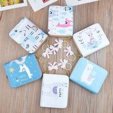 New  Leather Wallet Women Short Zip Tassel Wallet Student Korean Printed Mini Key Card Case