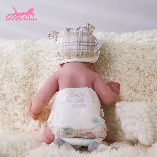 45CM Rebirth Reality Full Body Silicone Baby Walker Cute Baby Doll Very Soft Baby Bath Toy Bonecas Christmas Gift 4