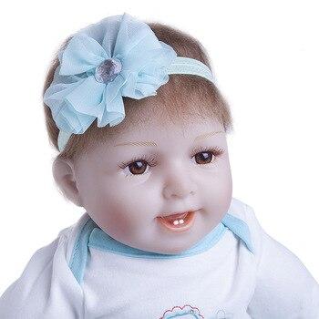 New Arrival Reborn Baby Doll 55CM full Silicone body Newborn Dolls Vinyl adorable Lifelike Toddler Bonecas Lovely   TOYs For Kid