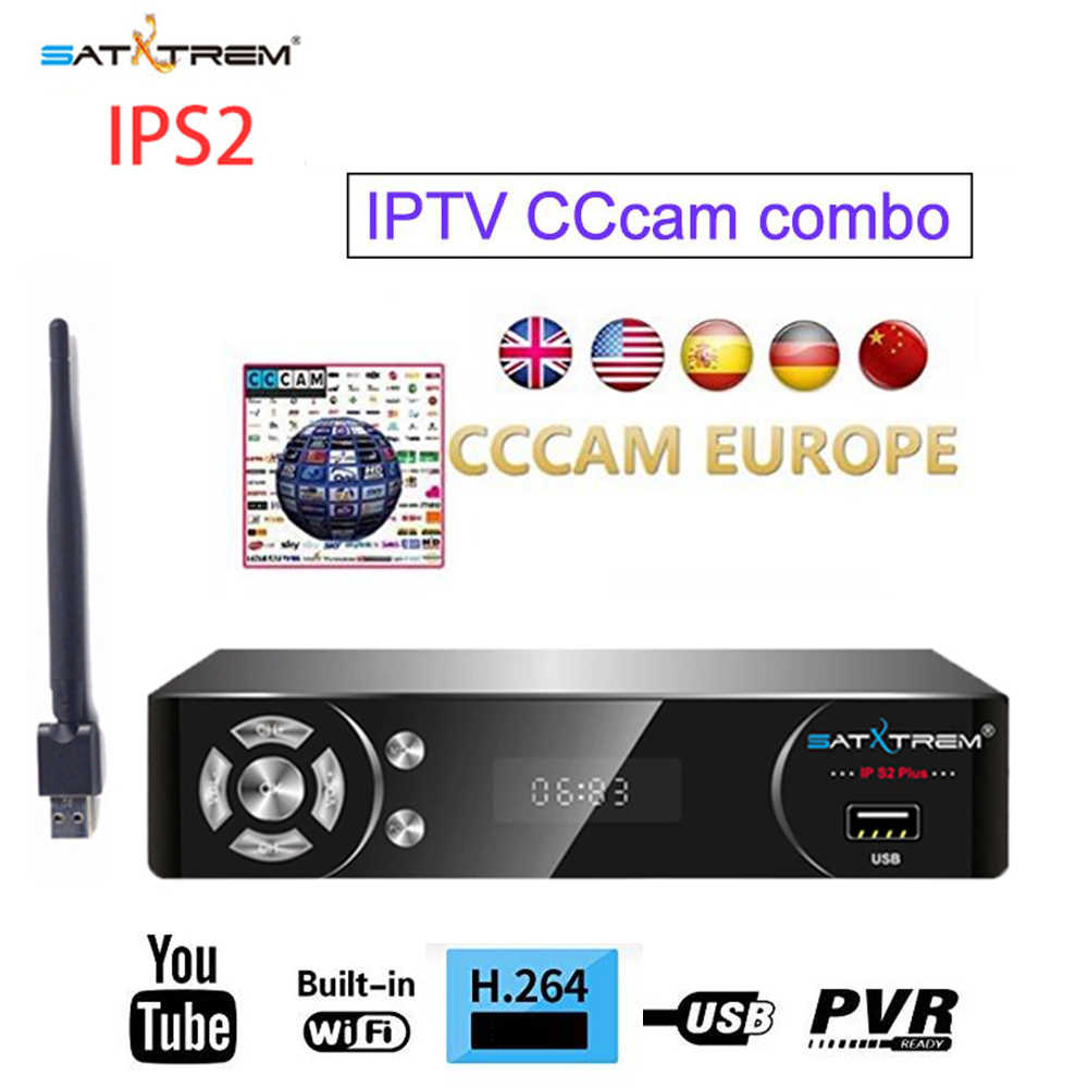 Satxtrem IPS2 IPTV Satellite Receiver Decodeur Digital DVB S2 USB Wifi MT7601 Cccam Receptor TV Turner Satellite Receiver HD