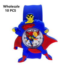 Wholesale 10 Pcs Superman Watch Kids Fashion Watches Quartz