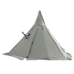 Image 4 - Namiot piramidowy z otworem kominowym/wieżowy namiot okienny namiot parkowy dwuwarstwowy namiot polowy zawiera pół namiotu wewnętrznego