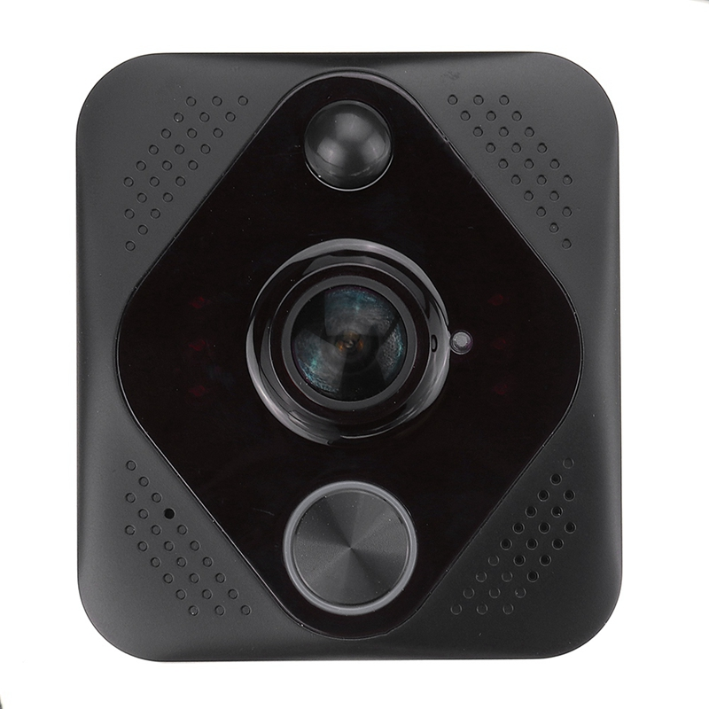 OPQ-X6 Video Doorbell Hd 1080P 180 Degree Wifi Wireless Intelligent Intercom System Cloud Storage Alarm System Black Abs