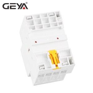 Image 5 - GEYA GYHC 4P 16A 20A 25A 4NO veya 2NO2NC 220V/230V Din demiryolu ev AC modüler kontaktör 50/60HZ