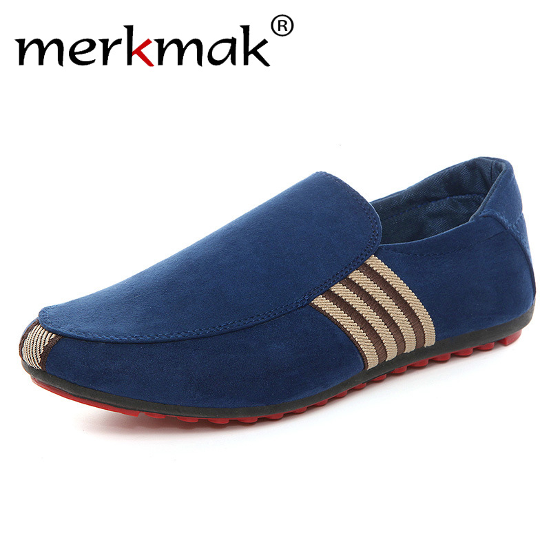 2019 New Men Suede Leather Loafers Driving Shoes Moccasins Fashion Men's Casual Shoes Flat Breathable Lazy Flats