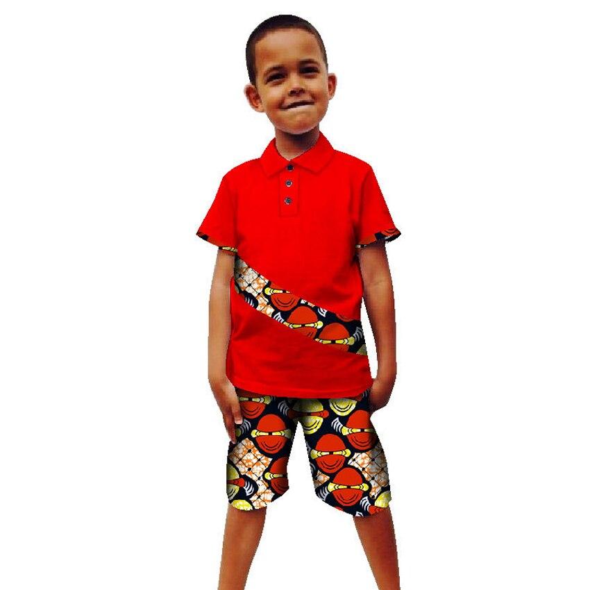 Kids Summer African Clothes For Boy 2019 Print Top Pants Suit Children Bazin Richen Dashiki Robe African Dresses For Women Men