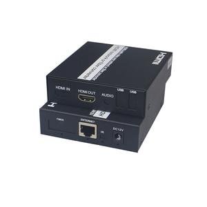 Image 1 - Cat5e/Cat6 UTP 케이블을 통한 HDMI 익스텐더 송신기 수신기 RJ45 LAN 이더넷 지원 1080P