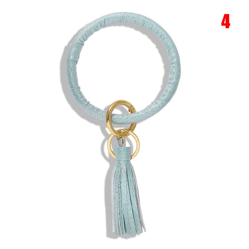 Bracelet Keychain Fringed Classic Alloy Double Ring Key Chain Backpack Accessories XRQ88
