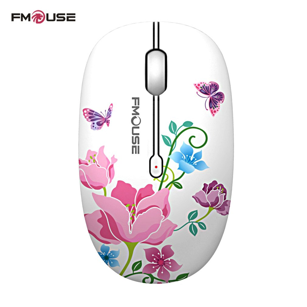 Fmouse 2.4G Wireless Mouse Super Quiet Exquisite Appearance 1600DPI Laptop Notebook Computer Wireless Optical Mouse