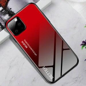 Image 3 - 100 pièces/lot pour iPhone 11 Pro Max dur verre trempé marbre dégradé arrière coque souple pour iPhone 11