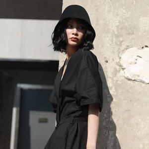 Image 3 - [XITAO] البرية مهرج موضة جديدة المرأة دلو القبعات الإناث بلون عادية استعادة طرق القديمة قبعات Campaniform ZLL3001