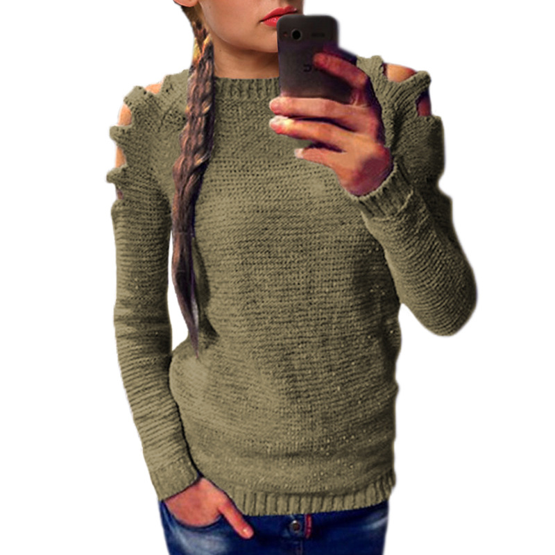 Women Gray Color  Basic Knitted Turtleneck Sweater Female Solid Turtleneck Collar Pullovers Warm